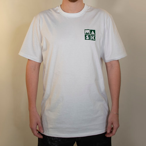 T-Shirt Basic White Green