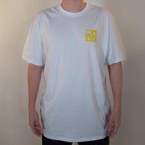 T-Shirt Basic White Yellow