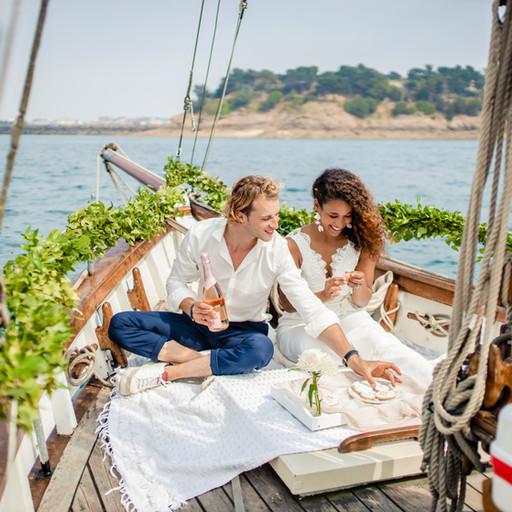 Bretagne: Demande en mariage au bord d'un voilier