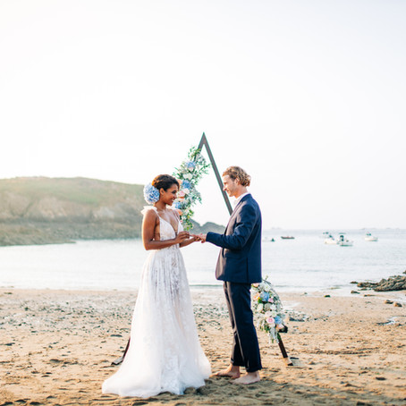 Bretagne, shooting inspiration mariage à la plage