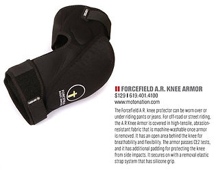 Cycle News - AR Knee Protector - April 2