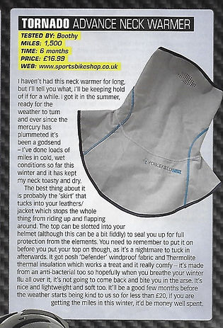 Fast Bikes - Tornado Advance Neck Warmer