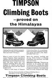Vintage advert - Timpson Climbing Boots