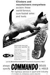 Vintage advert - Itshide Commando 1950s.