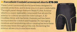 Contakt Shorts in Bike Magazine - April