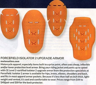 Rider Magazine review of Isolator Armour - December 2018