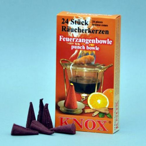 "#013-360 - Famous KNOX Brand ""Punch Bowl"" Incense Cones - Box of 24"