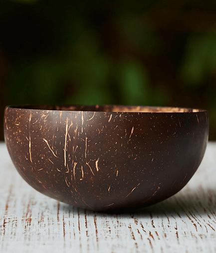 Tigela de coco natural - modelo equilíbrio