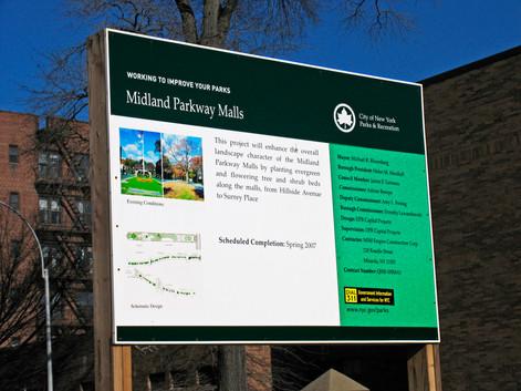 Midland Malls beautification project signage