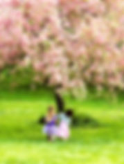 Children & Apple Tree Blossums.jpg