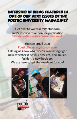 Be apart of the next issue!
