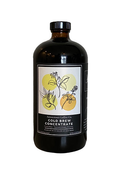 1/4 Gallon Cold Brew Concentrate - Costa Rica Honey Process