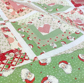 Christmas Hearts at Home Quilt for Girls