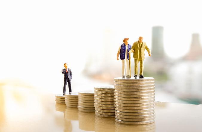 Concept of retirement planning. Miniatur