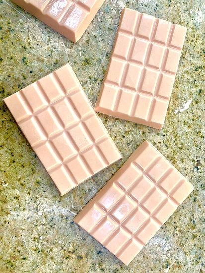Chocolate Blanco Rosa, Leche de Coco endulzado con Stevia  SIN AZUCAR VEGANO