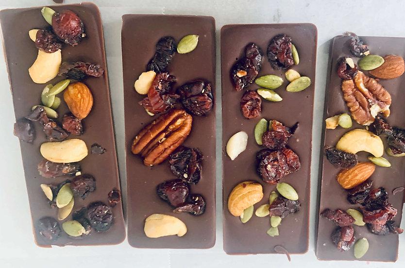 Dark Origen Leche de Coco  Frutas y Frutos Secos x  55 gramos