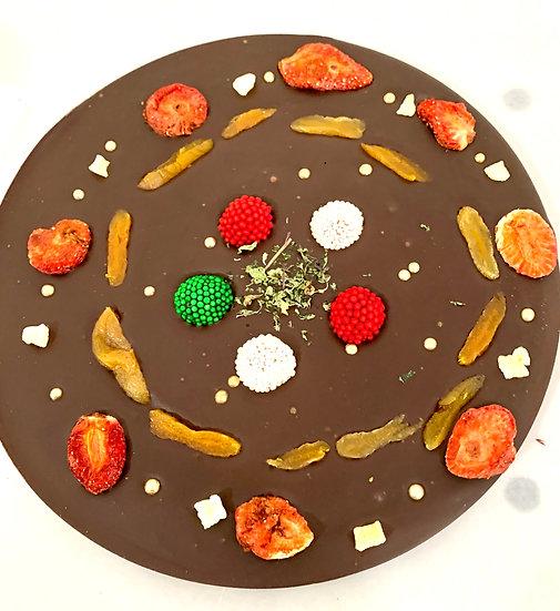 Broken Chocolate Table Christmas Round