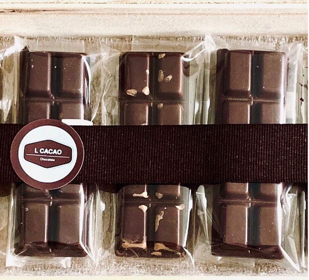 Barra 100% Cacao de Origen Sin azúcar  Tableta 22 gr