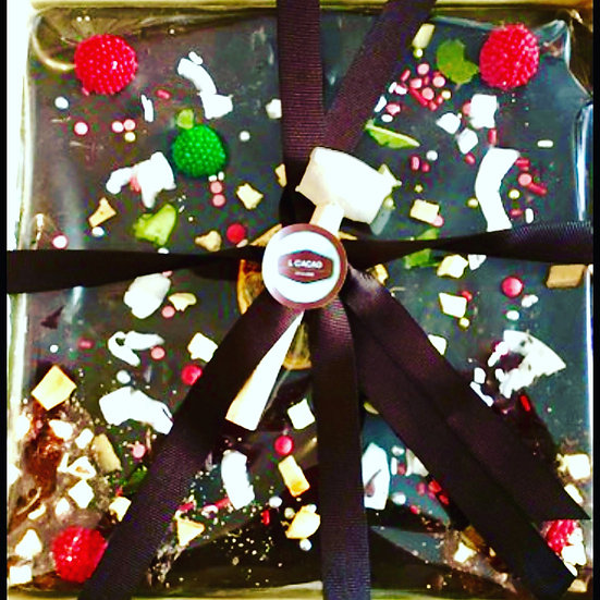 Square Christmas Broken Chocolate Table