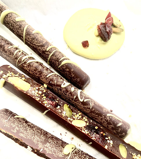 Chocolate  Sticks Frutas x 75 grs