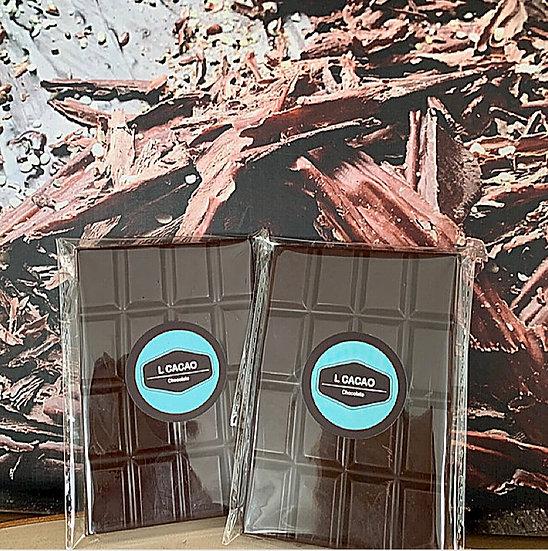 Barra 100 gramos Chocolate SANTANDER 65% Cacao + Panela