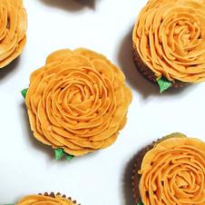 Orange Rose Cupcakes