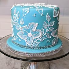 Royal Icing Lace Cake