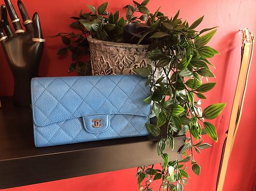 Chanel caviar suede purse