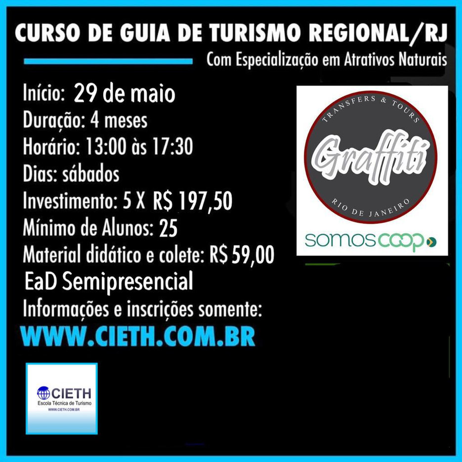 Curso de Guia de Turismo Regional (RJ) Turma Exclusiva Cooperativa GRAFFITI