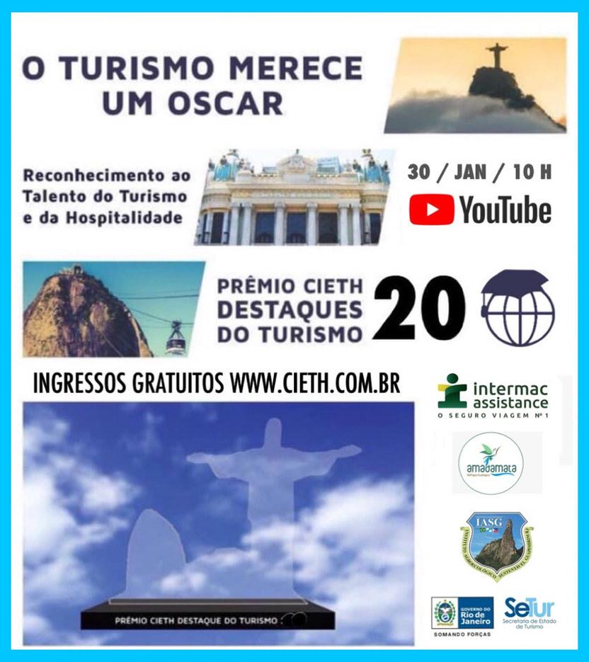 Cerimônia de Entrega do Prêmio CIETH Destaque do Turismo 2020