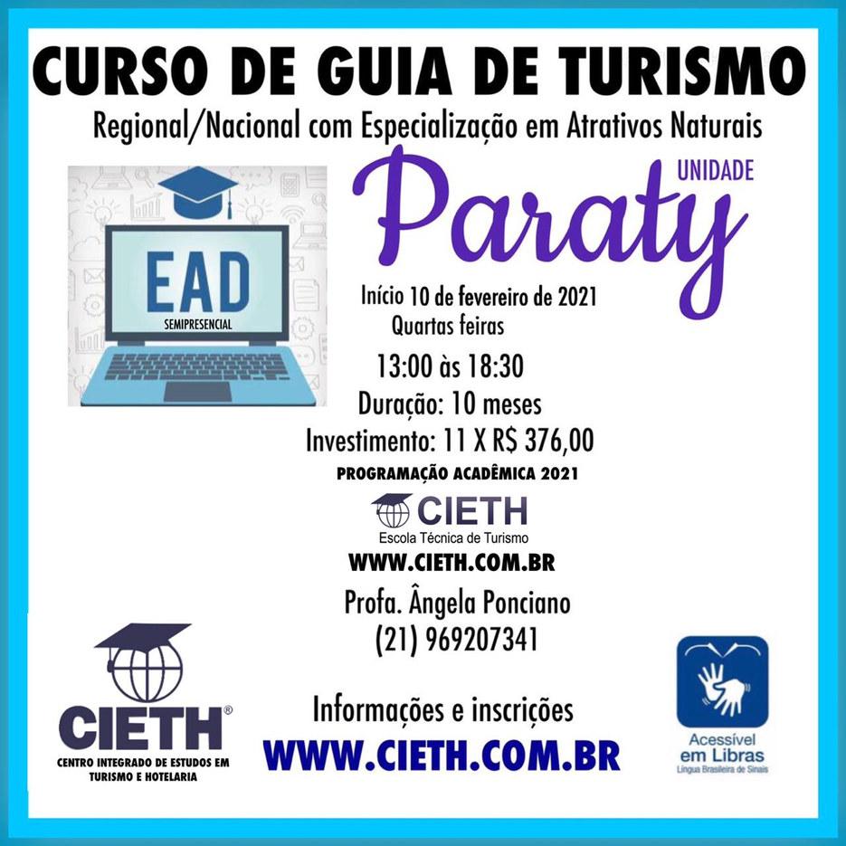 Curso de Guia de Turismo em Paraty