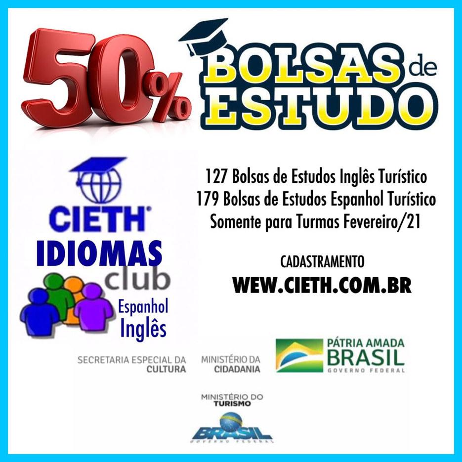 Projeto Bolsas de Estudo Cursos  de Idiomas Turísticos (inglês e Espanhol)