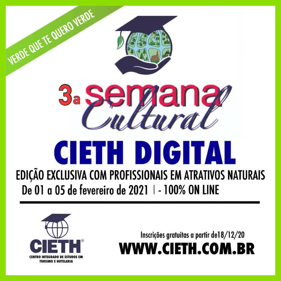 3a. Semana Cultural CIETH Digital - Atrativos Naturais