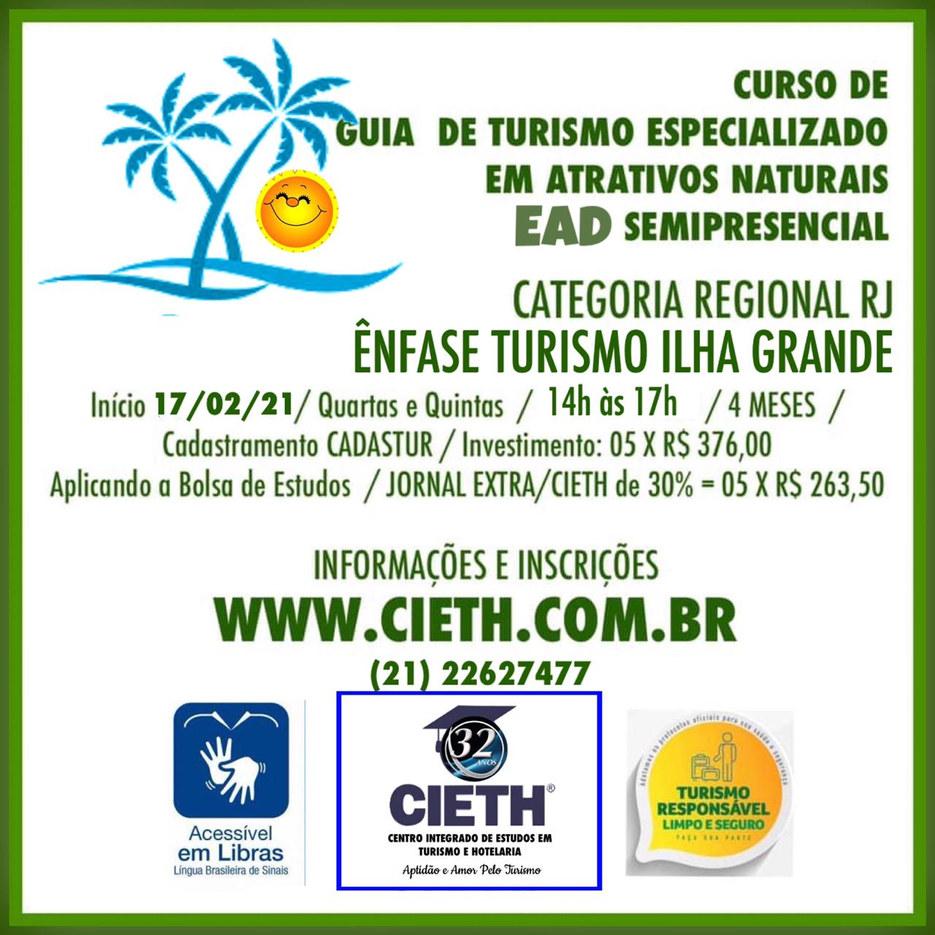 Curso de Guia de Turismo Regional RJ com Especialização em Atrativos NAturais