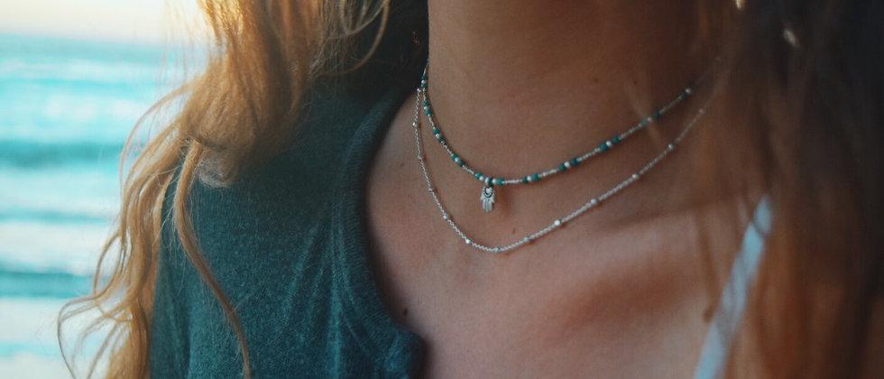 Sky Hamsa Necklace