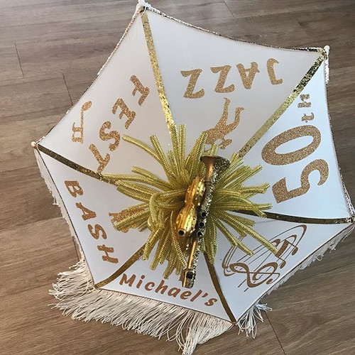 Custom #jazzfest #secondline umbrella or