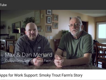 Google sent a film crew to Smoky Trout Farm.
