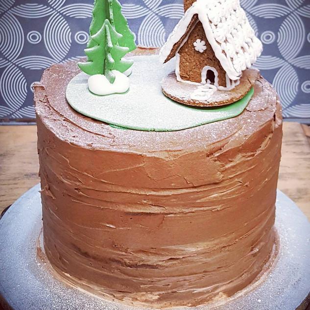 Winter Taart met Gingerbread