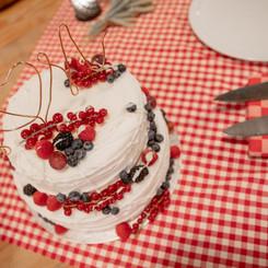 Bruids Taart Rood Fruit