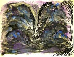 Abstract backdrop sketch