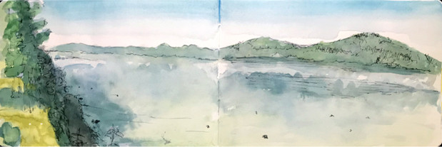 Plein air watercolor