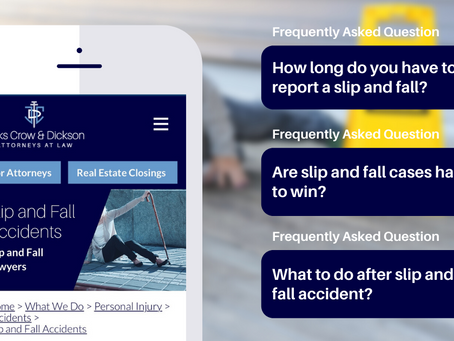 Frequently Asked Questions (FAQs) on Slip & Fall Accidents