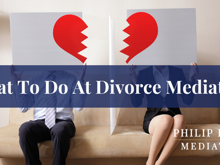 What to Do at Divorce Mediation