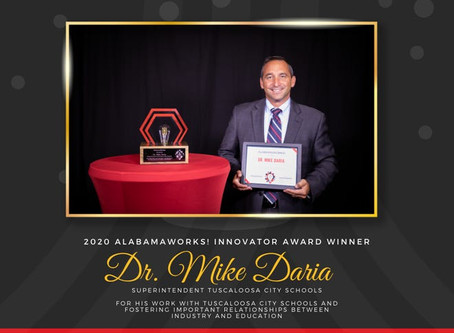 Tuscaloosa City Superintendent Mike Daria Earns State Innovator Award