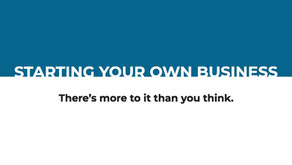 Starting Your Own Business [Whitepaper]
