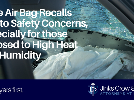 More Air Bag Recalls Due to Safety Concerns, Especially for those Exposed to High Heat and Humidity