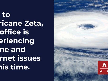 ALERT: Hurricane Zeta Affects AIM's Phone & Internet Service