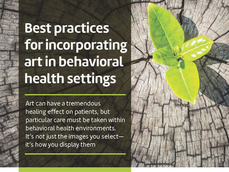 Best Practices for Incorporating Art in Behavioral Health Settings