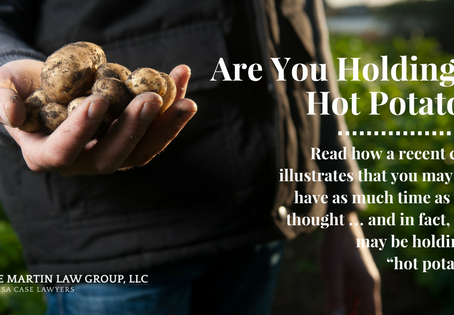 Are You Holding a Hot Potato?