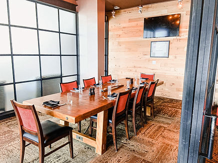 Small Private Dining Room withPrivacy Wall